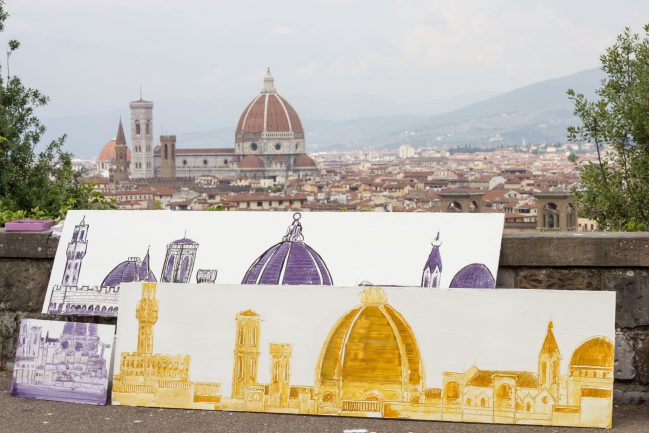 Florence Landscape from the Michelangelo's Piazzale 2