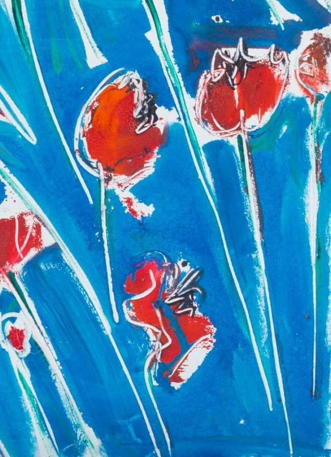 Poppies in blue 4