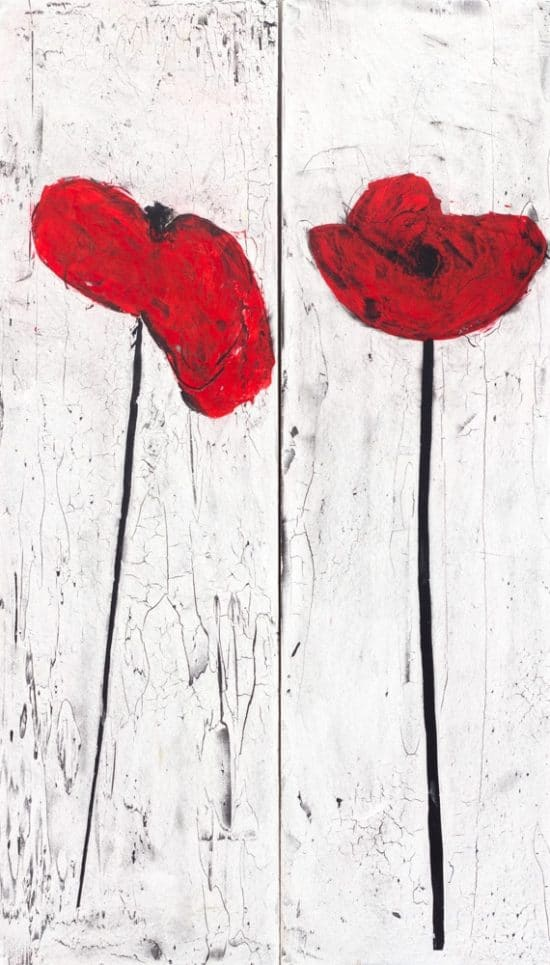 Poppies Diptych 1