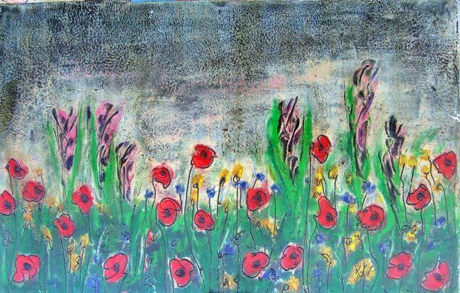 Poppies Triptych 2