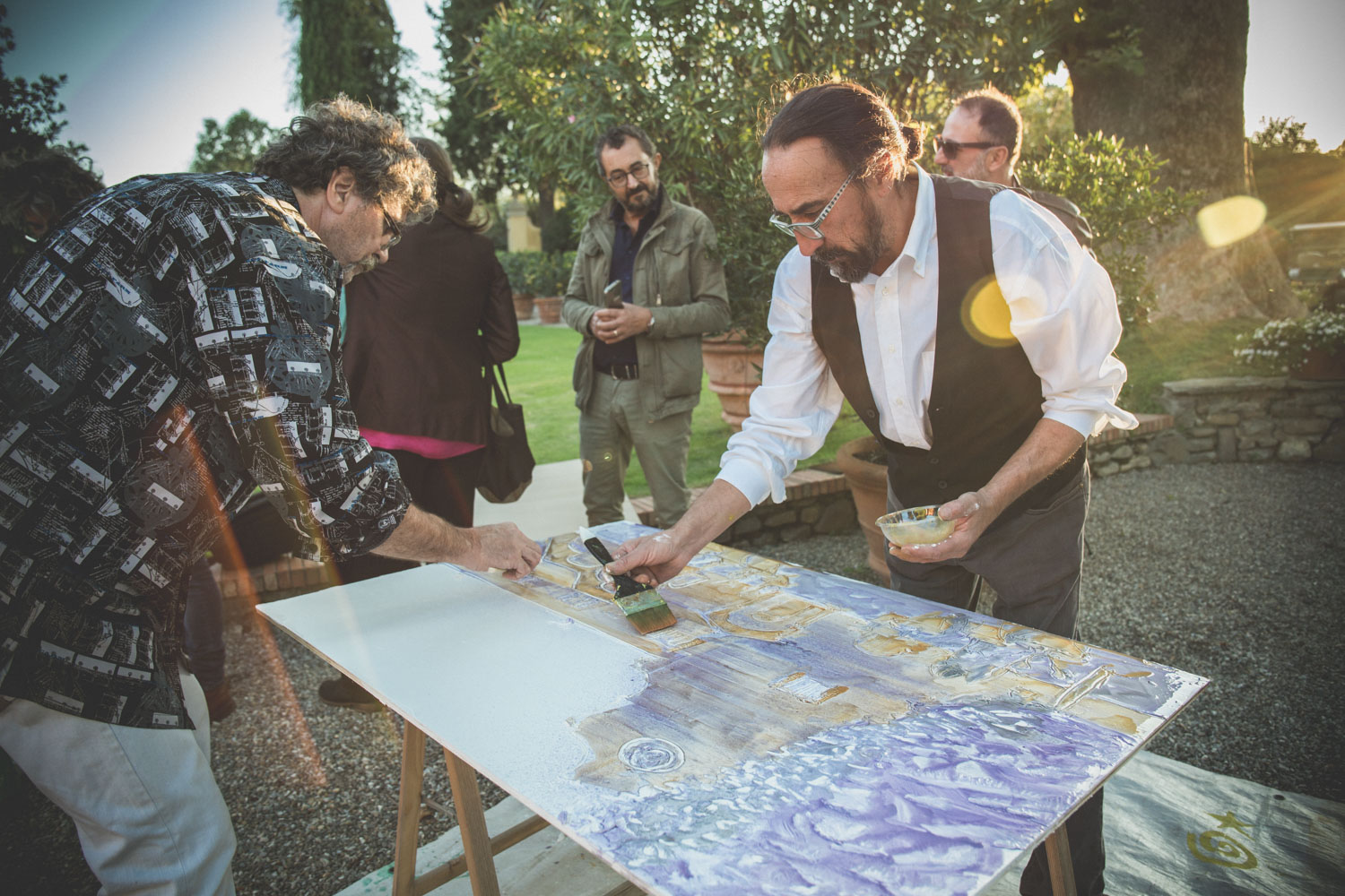 Fresco Painting en Plein Air chapter II Villa La Massa