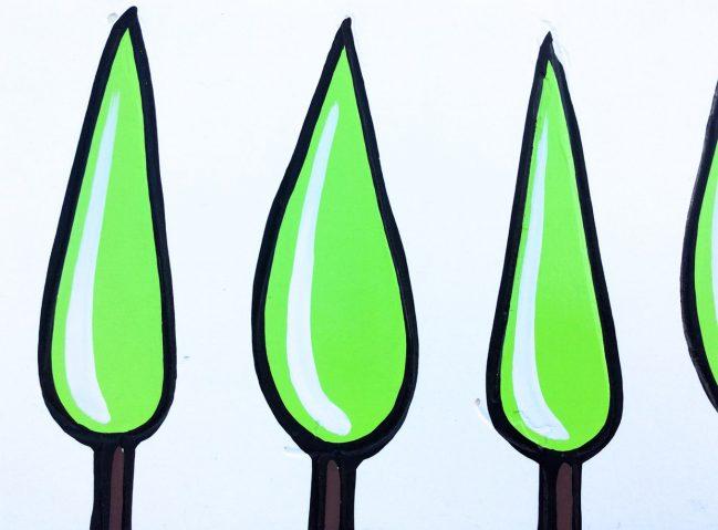 Green Cypresses 2