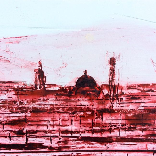 Florence landscape in red wax 2