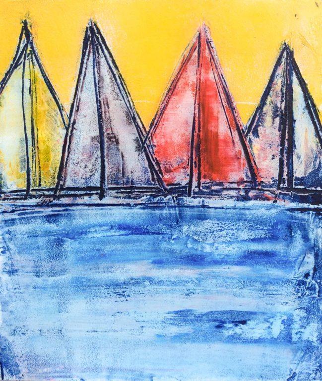 Sail Boats colored 1