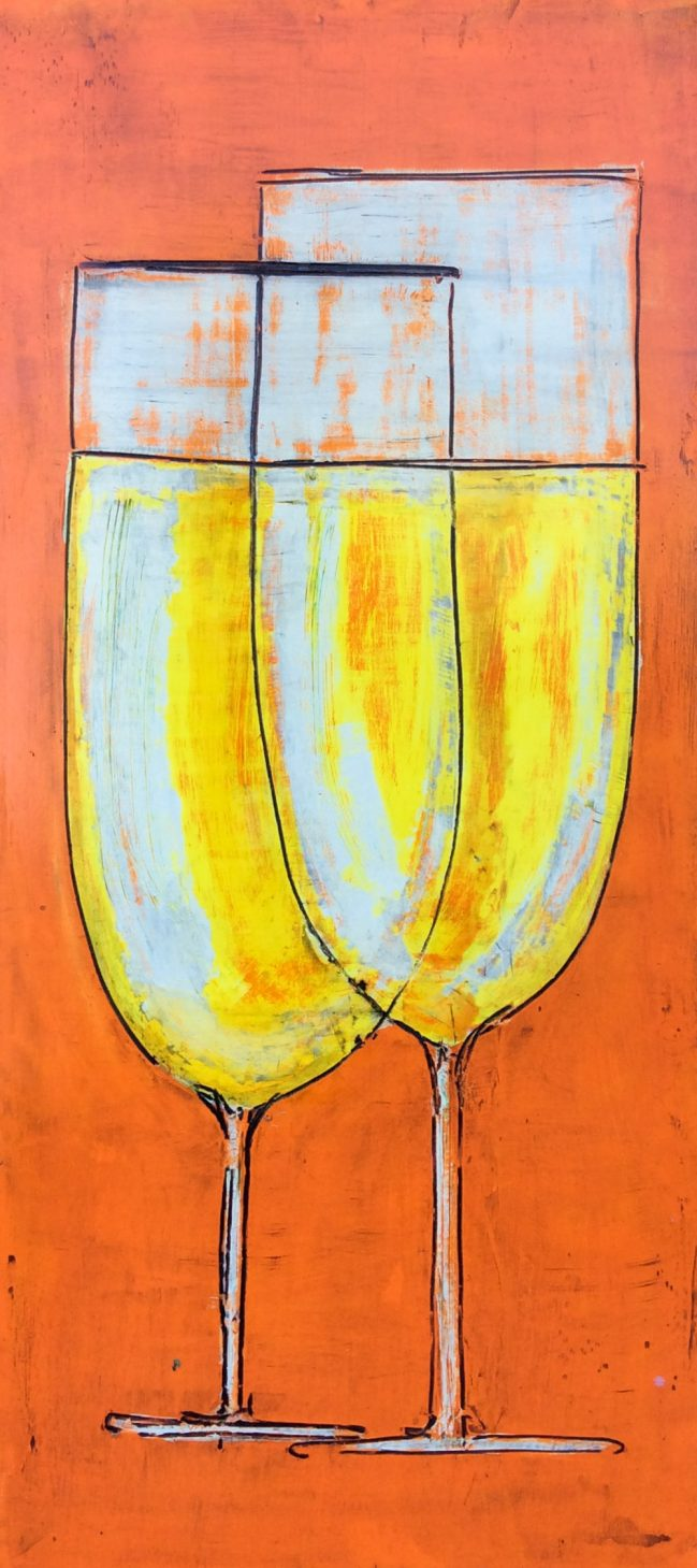 Prosecco chalices in orange 1