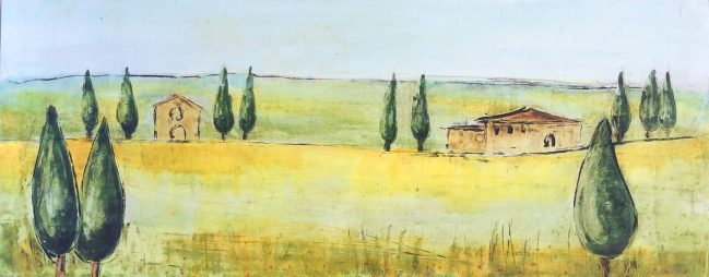 Countryside houses landscape 1