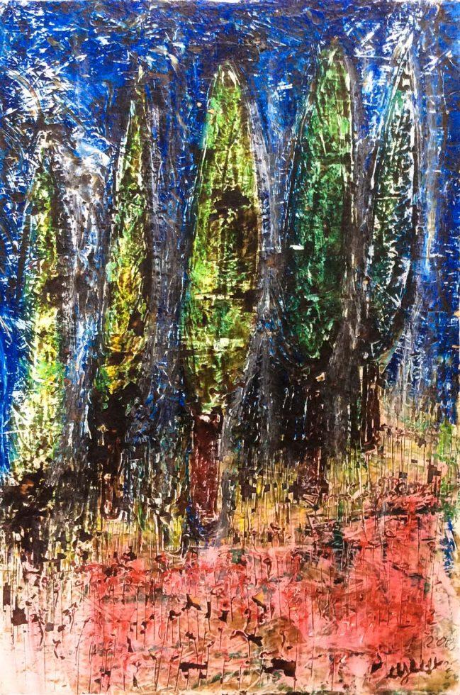 Cypresses in the dark 1