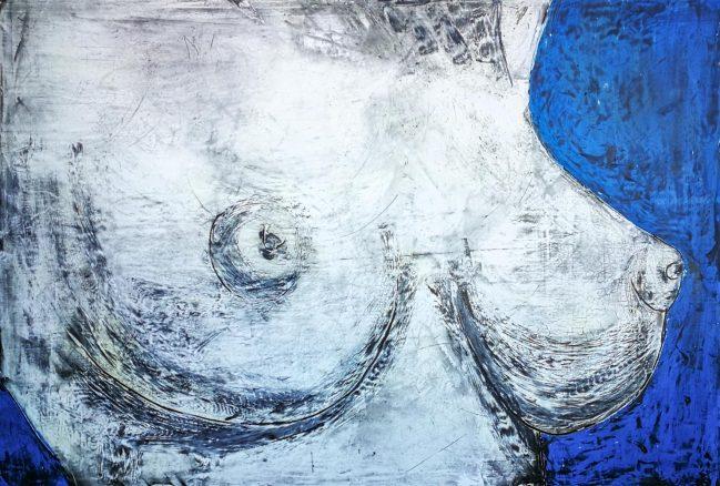 Torso woman in blue 1