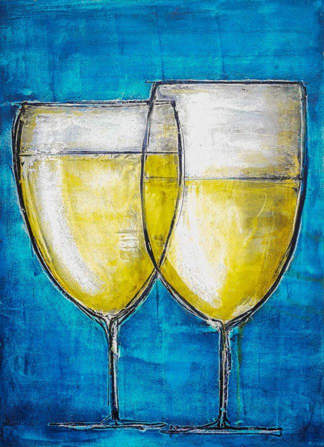 Glasses of Prosecco wine 1