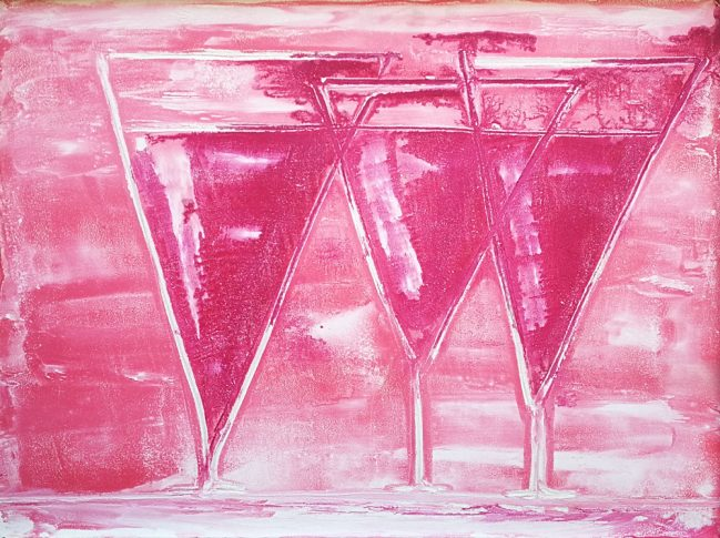 Chalices red wine in Pink 2
