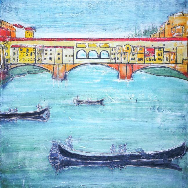 Old Bridge in blue 1
