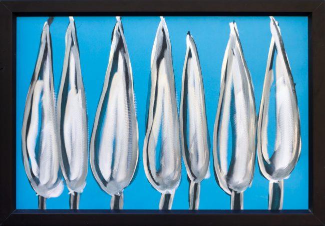 Alluminio smalto e graffito 63x43 Osteria de'Cicalini