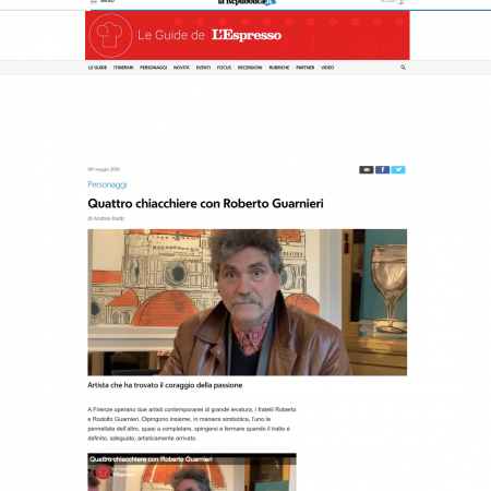 A chat with Roberto Guarnieri by Le Guide del'Espresso
