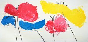 poppies, california flower, florentine art