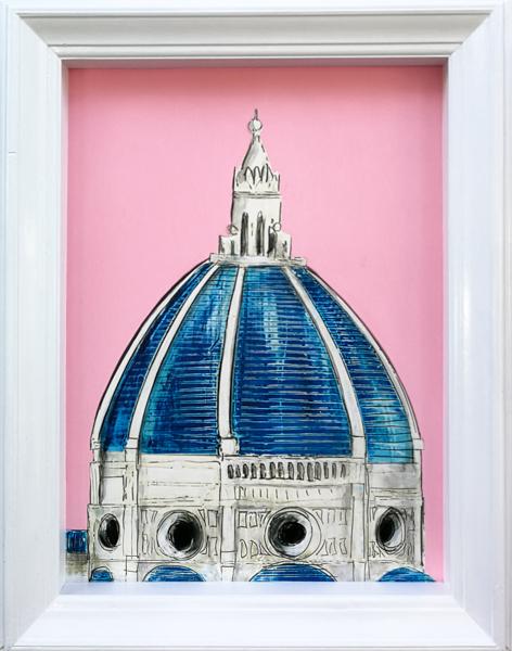 Florence Dome Pink Medium 1