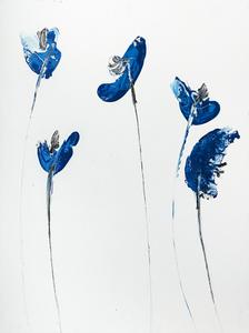 Bouquet poppies blue 60 x 80-3 3