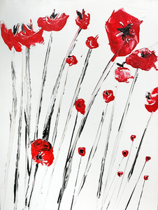 Bouquet poppies red 1