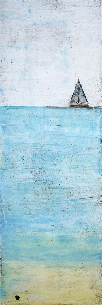 sailboat painting, artist florence