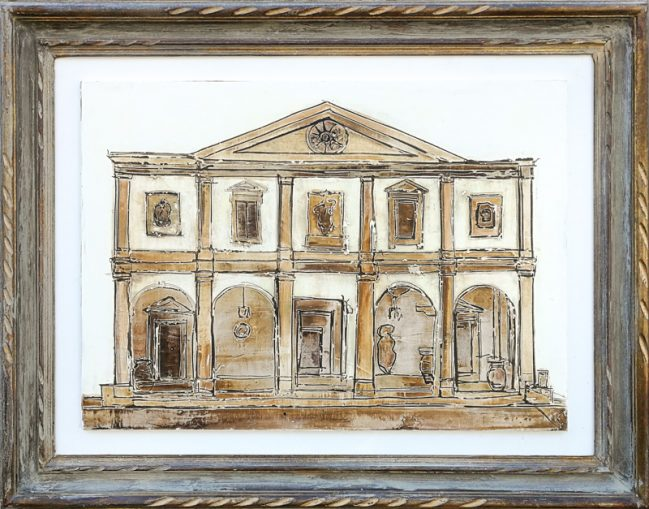 Villa San Michele, painting