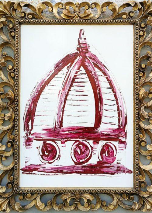 duomo Brunelleschi, dipinto, arte fiorentina