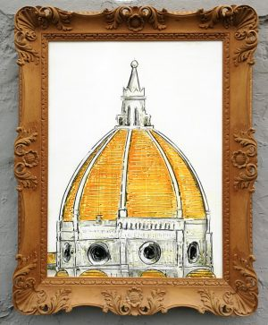 florence dome framed