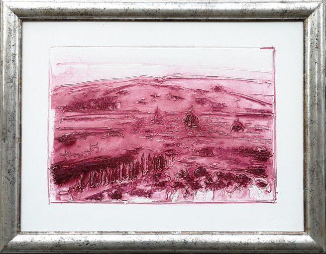 Florence landscape monochrome bordeaux 1