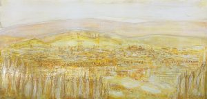 Firenze landscape yellow, arte contemporanea