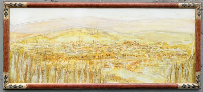 florence landscape, painting on wood