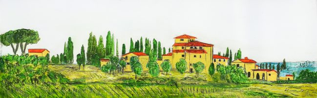 tuscany country town, iguarnieri art, contemporary art in florence