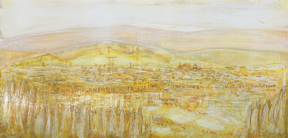 Firenze landscape yellow, arte contemporanea