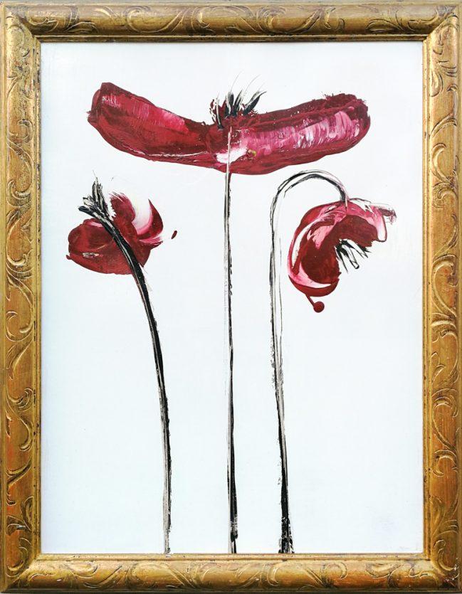 velvet red poppies, art gallery studio florence, local artist