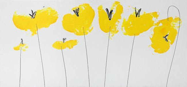 POPPIES YELLOW, PAINTING, FLORENCE