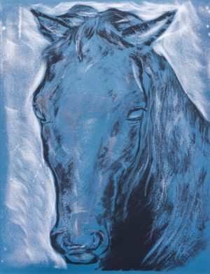 leonardo da vinci horse head graffito artwork