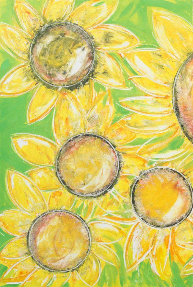 Sunflowers Diptych 1