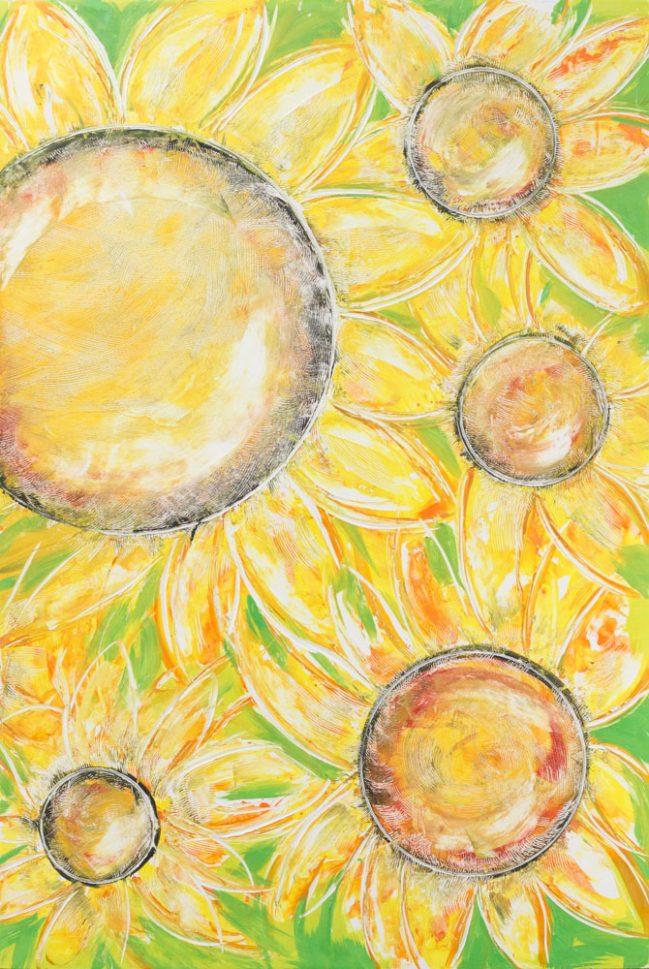 Sunflowers Diptych 2