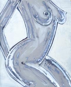 nudo di donna di lato