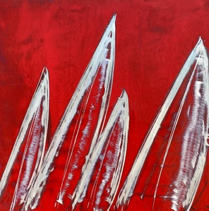 silver sails in red