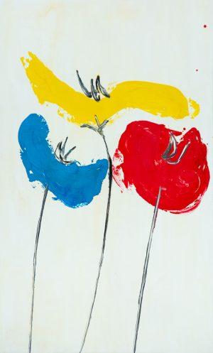 spring poppies tuscany artwork