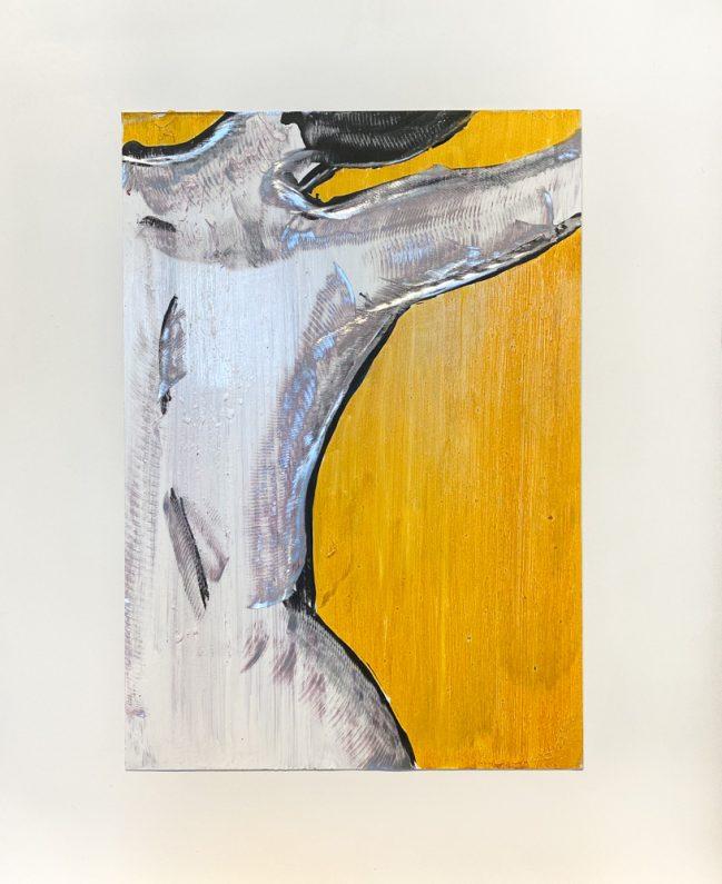 nudo dettaglio in giallo