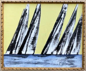 regatta oil painting