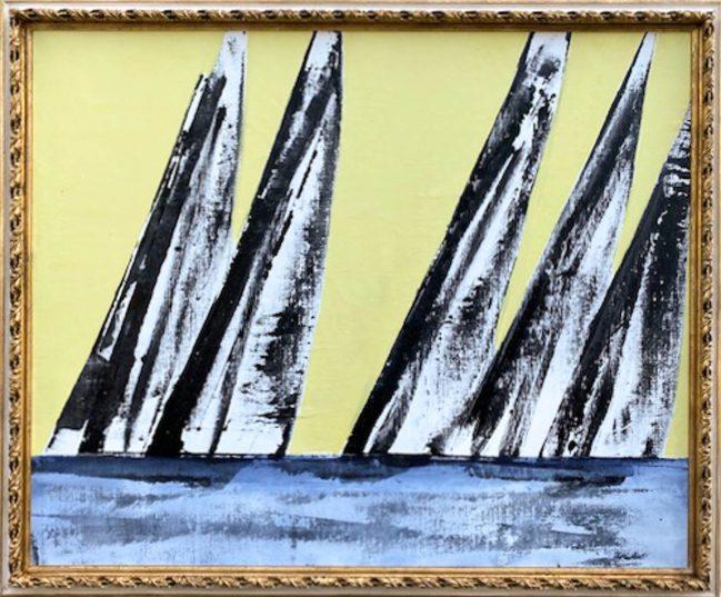 regatta oil painting
