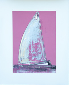 sail and sea in pink