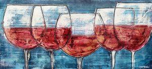 calici di vino rosso 48,5 x 105