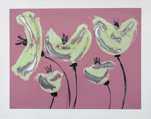 poppies in pink 122 x 97