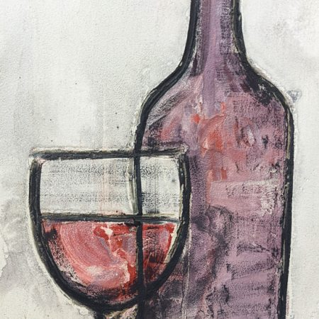 Glass and Bottle 16 x 32