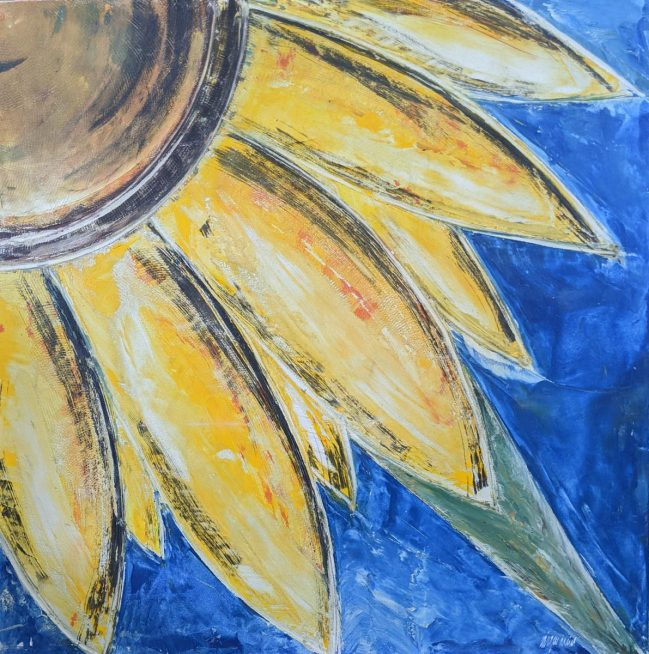 Sunflower in blu 48 x 48