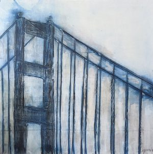SF Bridge in Blue 48 x 48