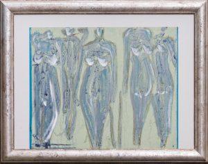 Donne catwalk pink blue 65 x 53 cm