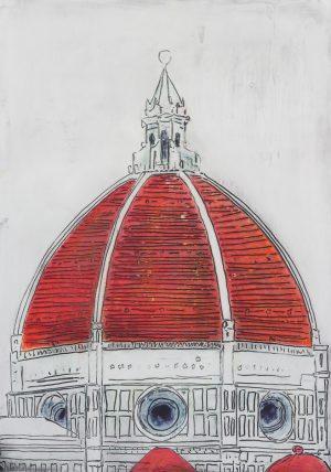 Duomo rosso 80 x 114