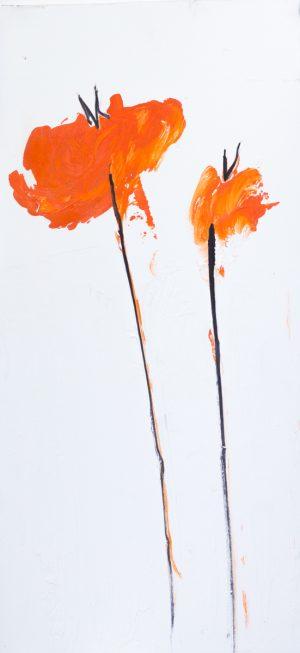 papaveri orange II 26 x 56